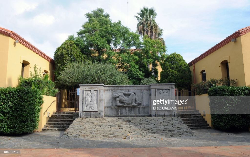 A picture taken on October 25, 2013 shows a World War I memorial created in 1933 by French sculptor Aristide Maillol (1861-1944) in the French southern village of Banyuls-sur-Mer. 2014 will mark the 100th anniversary of the First World War, of which the commemorations will be the first without any direct witnesses of the conflict, as they all passed away.