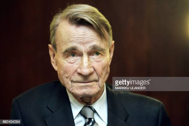Picture taken on October 26 2004 shows former Finnish President Mauno Koivisto in Helsinki The former Finnish President died on May 12 2017 at the...