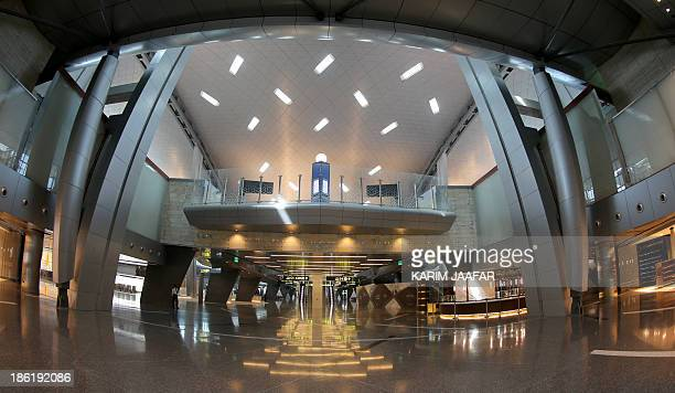 A picture taken on October 29 2013 shows a terminal of Hamad International Airport in Doha AFP PHOTO / ALWATAN DOHA / KARIM JAAFAR == QATAR OUT ==