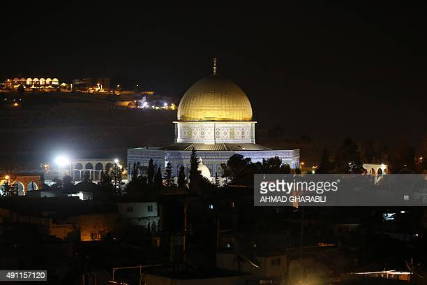 A picture taken on October 3 2015 shows the golden dome of the Dome of the Rock mosque on the AlAqsa mosque compound in Jerusalem's Old City AFP...