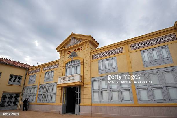 A picture taken on October 4 2013 shows the entrance of the world's oldest cinema 'L'Eden' in La Ciotat southern France L'Eden cinema which screened...