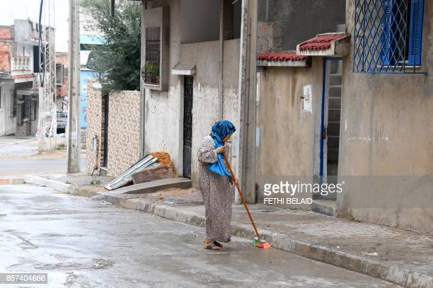 A picture taken on October 4 2017 in the locality of Zarzouna near Bizerte north of Tunis shows the area near the family house of 29yearold Tunisian...
