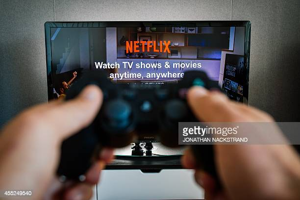 Picture taken on September 11 2014 to illustrate the ondemand internet streaming media provider Netflix on the home video game console PlayStation 3...