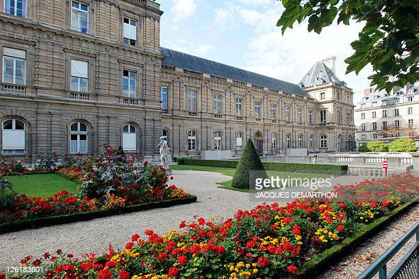 Picture taken on September 14 2011 in Paris shows the garden of the Palais du Luxembourg in Paris where the French Senate is located The next...
