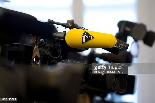 A picture taken on September 14 2014 shows a camera bearing the French television channel 'ITELE' logo in Paris AFP PHOTO / KENZO TRIBOUILLARD