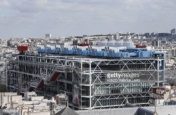 A picture taken on September 15 2012 in Paris shows the Centre Pompidou Museum of contemporary art viewed from the top of the Saint Jacques Tower...