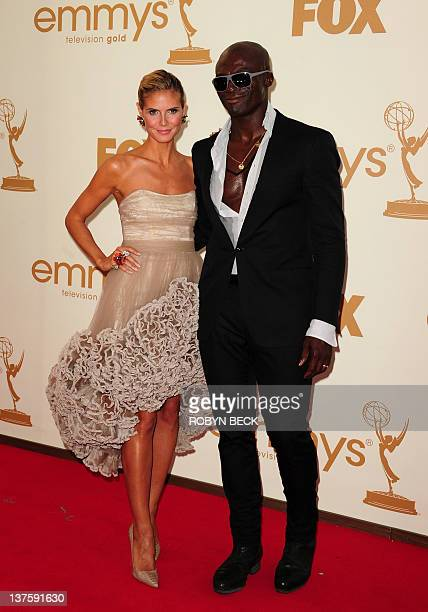 FILES Picture taken on September 18 2011 shows German model Heidi Klum and her husband singer Seal at the 63rd annual Primetime Emmy Awards at the...