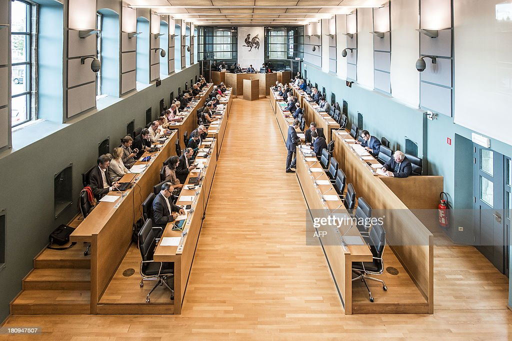 Picture taken on September 18, 2013 in Namur, shows a plenary session of the Walloon Parliament, at the start of the new political year.