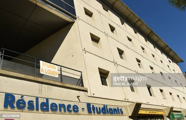 A picture taken on September 20 2017 shows the facade of a student residence in the French southwestern city of Montpellier After weeks of partial...