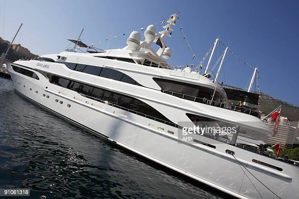 A picture taken on September 23 2009 in Monaco south of France shows a yacht during the International Monaco Yacht Show exclusively devoted to...