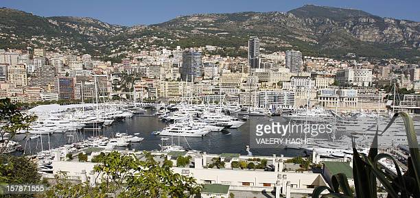 A picture taken on September 23 2009 shows the harbour of the Monaco south of France during the International Monaco Yacht Show exclusively devoted...