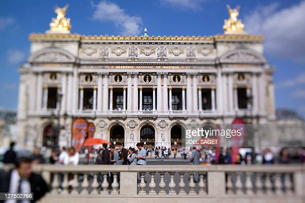 A picture taken on September 23 2011 in Paris with a tilt and shift lens shows the Palais Garnier built in 1875 also known as the Opera AFP PHOTO...
