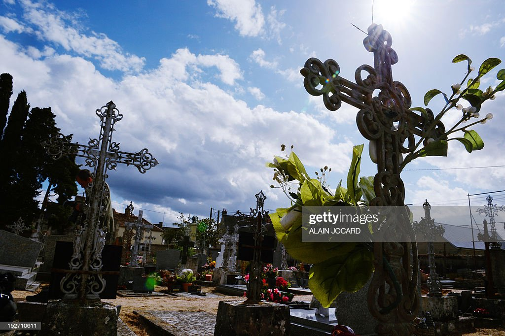 A picture taken on September 24, 2012 shows the grave of an unidentified three or four-year-old victim of a crime at the Suevres cemetary, western France. Blois' prosecutor, Dominique Puechmaille decided to reopen the case of the victim found on August, 11, 1987 on the motor highway A10, near Blois.