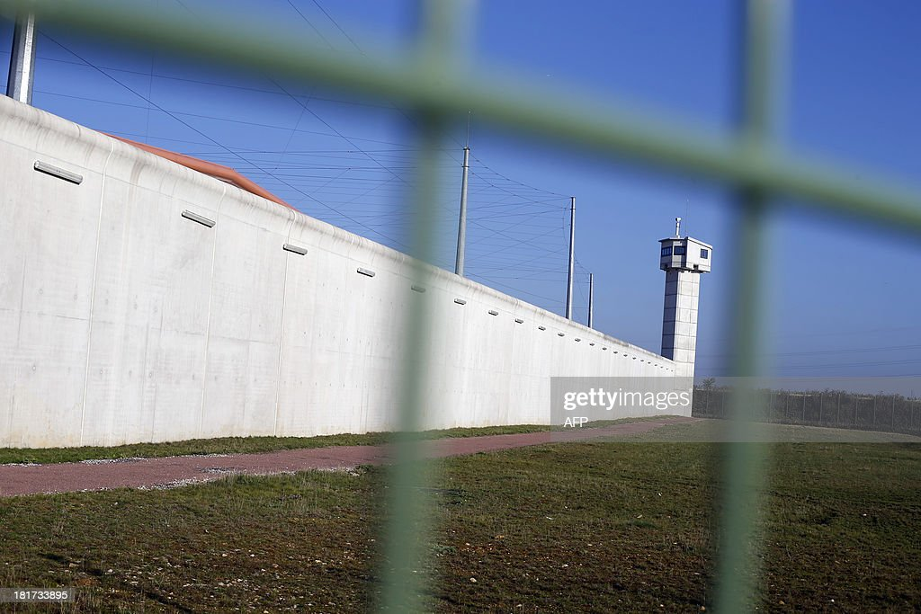 A picture taken on September 24, 2013 shows a view of the Centre Penitentiaire Sud-Francilien prison in Reau, outside Paris.