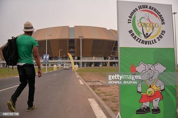A picture taken on September 3 2015 shows the new Kintele stadium in Brazzaville on the eve of 11th All Africa Games opening ceremony that it will...