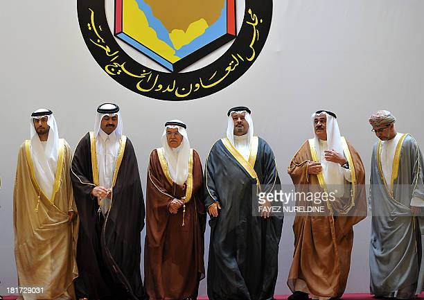 A picture taken September 24 2013 shows a family picture of GCC Oil and Energy Ministers as they apear from United Arab Emirate's Oil and Energy...