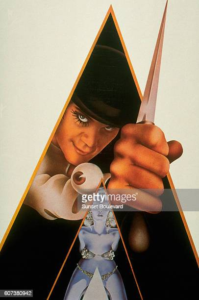 Picture used for the movie poster of A Clockwork Orange based on the novel by Anthony Burgess and directed by Stanley Kubrick