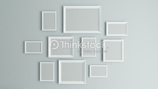Picture White Border Frame 3d Rendering Stock Photo | Thinkstock