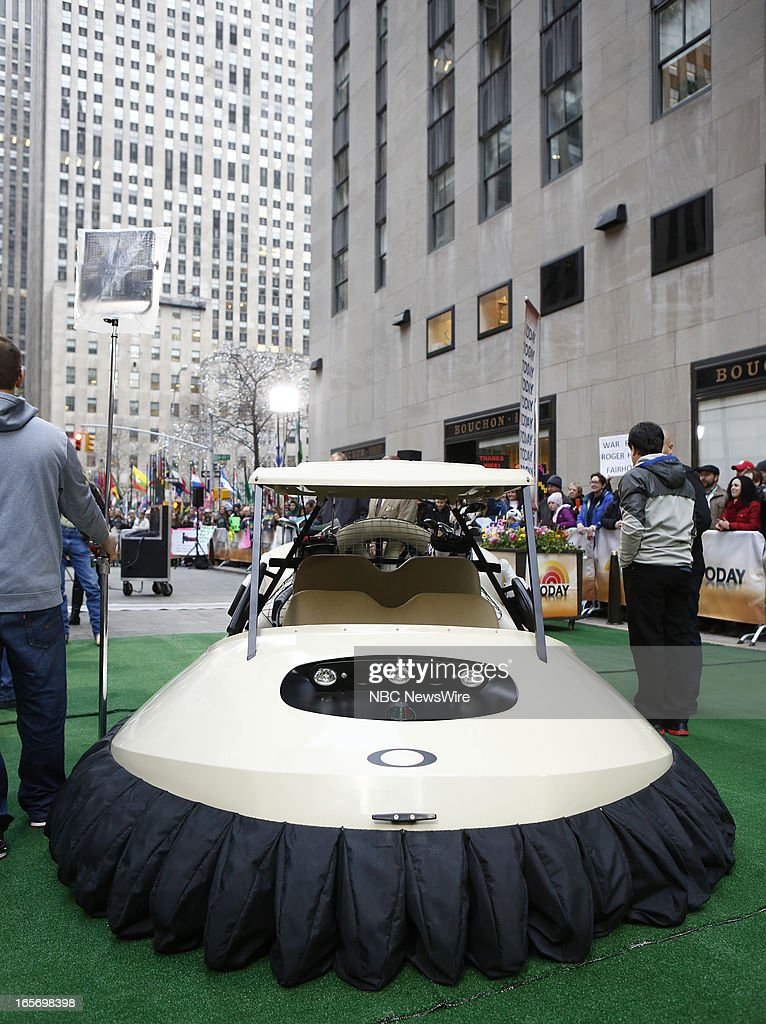 A Golf Cart Hover Craft appears on NBC News' 'Today' show --