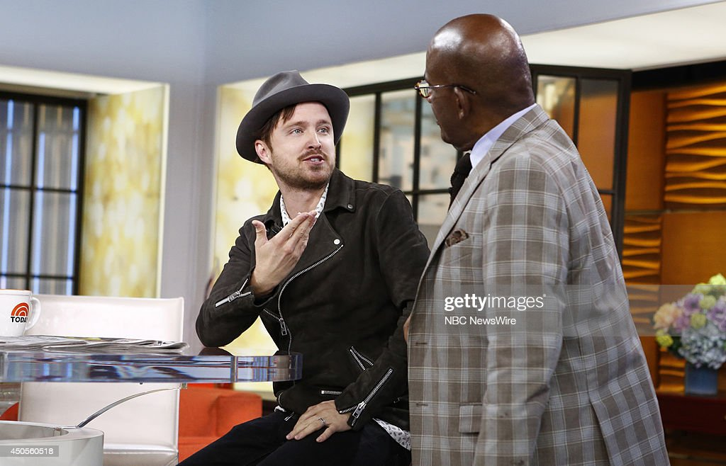 Aaron Paul and Al Roker appear on NBC News' 'Today' show on June 13, 2014 --