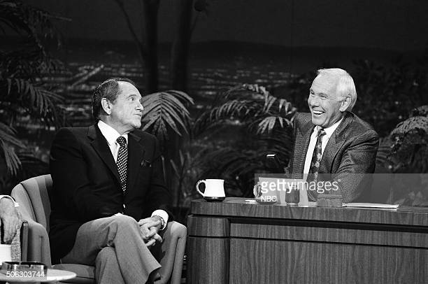 Actor Alan King during an interview with host Johnny Carson on April 24 1991