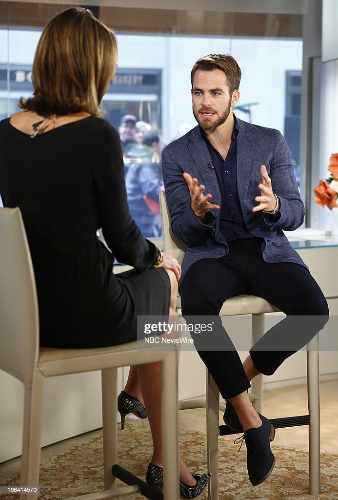 Actor <a gi-track='captionPersonalityLinkClicked' href=/galleries/search?phrase=Chris+Pine&family=editorial&specificpeople=641995 ng-click='$event.stopPropagation()'>Chris Pine</a> appears on NBC News' 'Today' show on May 9, 2013 --