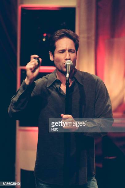 Actor David Duchovny performing on February 26 1999