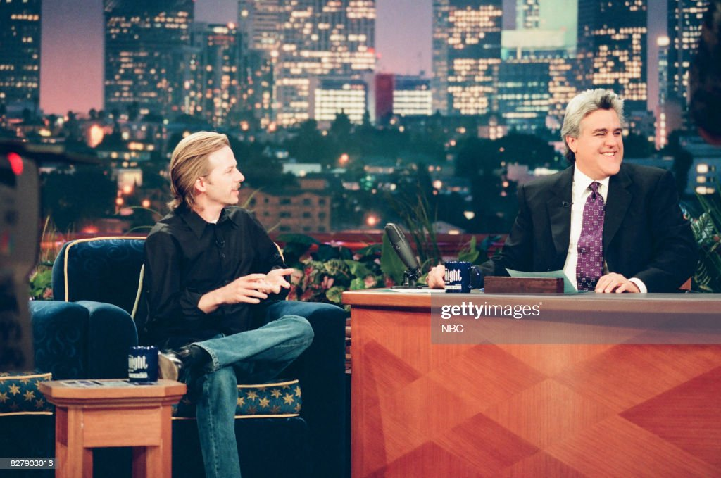 Actor David Spade during an interview with host Jay Leno on April 29, 1999 --
