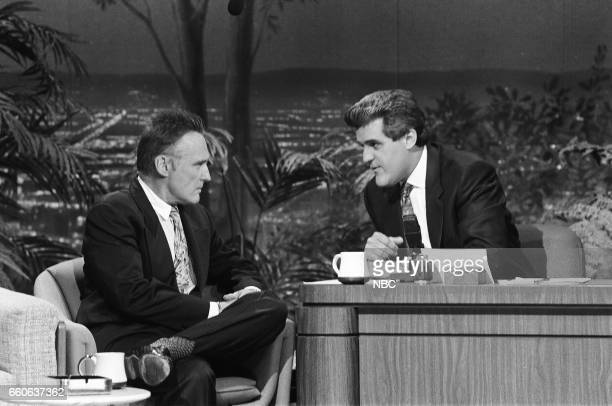 Actor Dennis Hopper during an interview with guest host Jay Leno on July 16 1991
