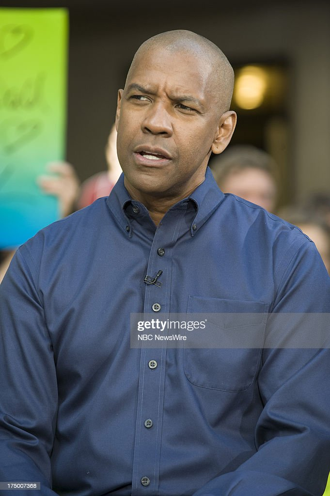 Actor Denzel Washington appears on NBC News' Today show on July 29, 2013 --