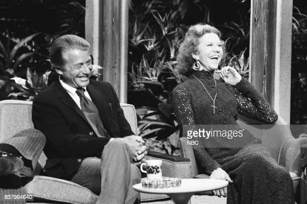 Actor Efrem Zimbalist Jr Evangelist Katheryn Kuhlman during an interview on October 15th 1972