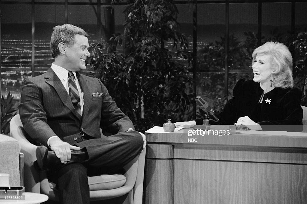 Actor Larry Hagman, guest host Joan Rivers on September 28, 1983 --