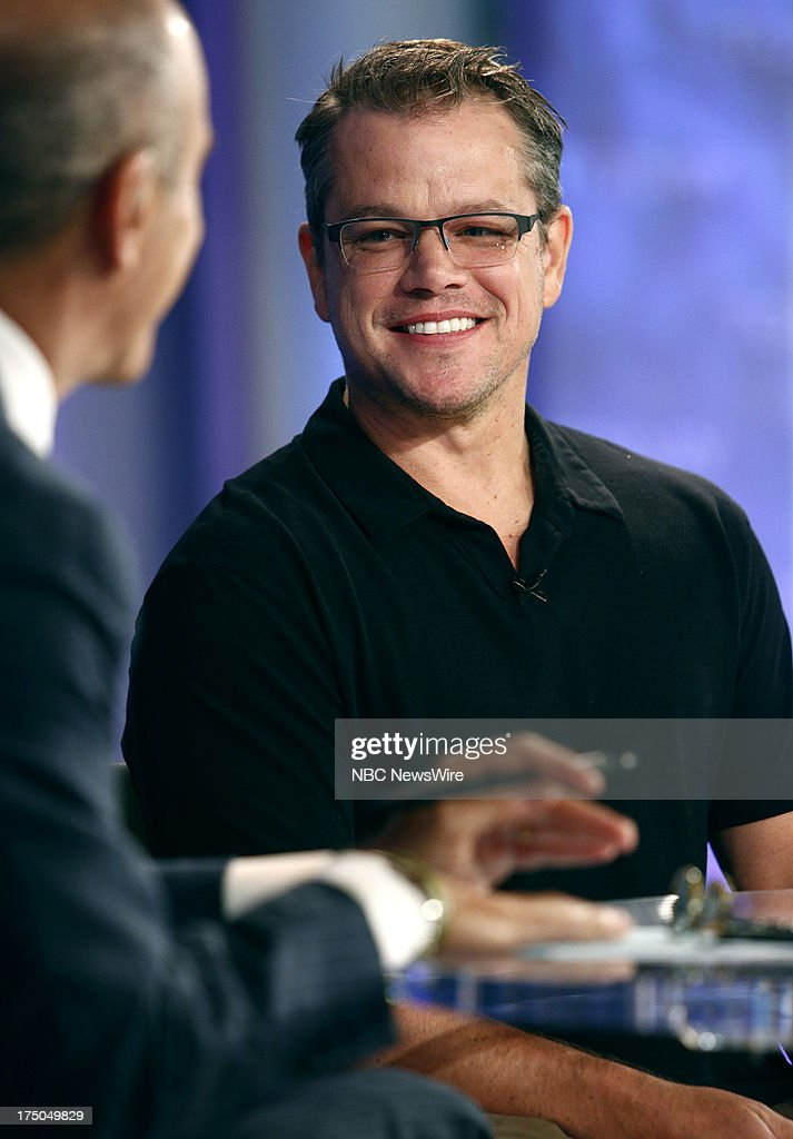 Actor <a gi-track='captionPersonalityLinkClicked' href=/galleries/search?phrase=Matt+Damon&family=editorial&specificpeople=202093 ng-click='$event.stopPropagation()'>Matt Damon</a> appears on NBC News' 'Today' show on July 30, 2013 --