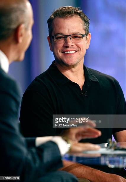 Actor Matt Damon appears on NBC News' 'Today' show on July 30 2013