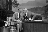 Actor McLean Stevenson host Johnny Carson on February 8 1979 Photo by Gene Arias/NBC/NBCU Photo Bank