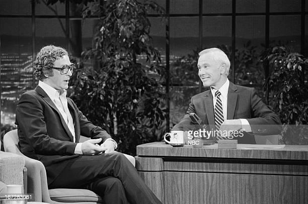 Actor Michael Caine host Johnny Carson on September 21 1983