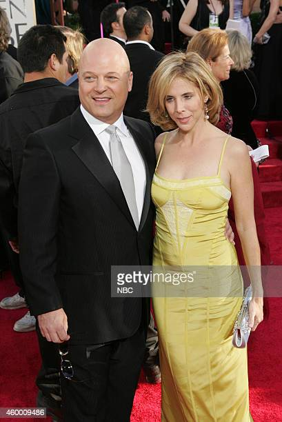 Actor Michael Chiklis and wife Michelle Moran arrive at the 62nd Annual Golden Globe Awards held at the Beverly Hilton Hotel on January 16 2005