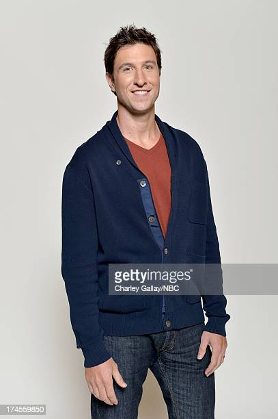 Pictured Actor Pablo Schreiber poses for a portrait during NBC 2013 Summer Press Tour at The Beverly Hilton Hotel on July 27 2013 in Beverly Hills...