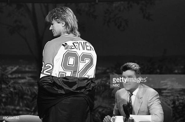 Actor Richard Dean Anderson during an interview with host Jay Leno on September 27 1991