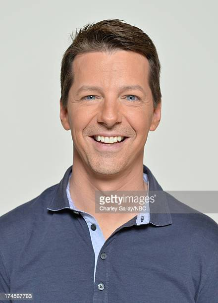 Pictured Actor Sean Hayes poses for a portrait during NBC 2013 Summer Press Tour at The Beverly Hilton Hotel on July 27 2013 in Beverly Hills...