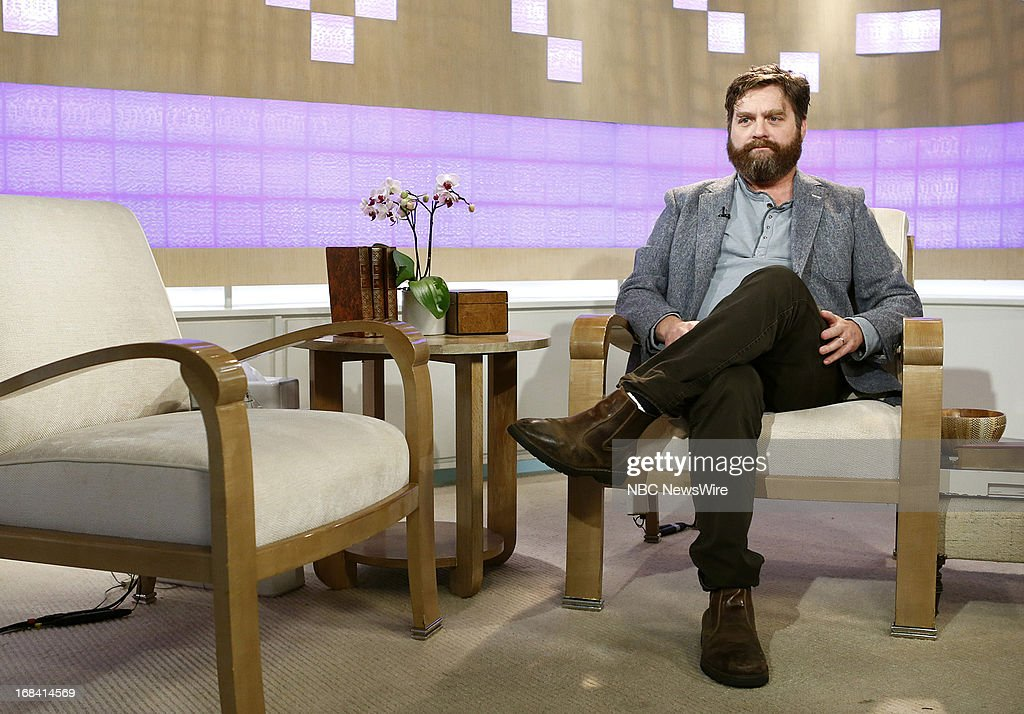 Actor/comedian Zach Galifianakis appears on NBC News' 'Today' show on May 9, 2013 --