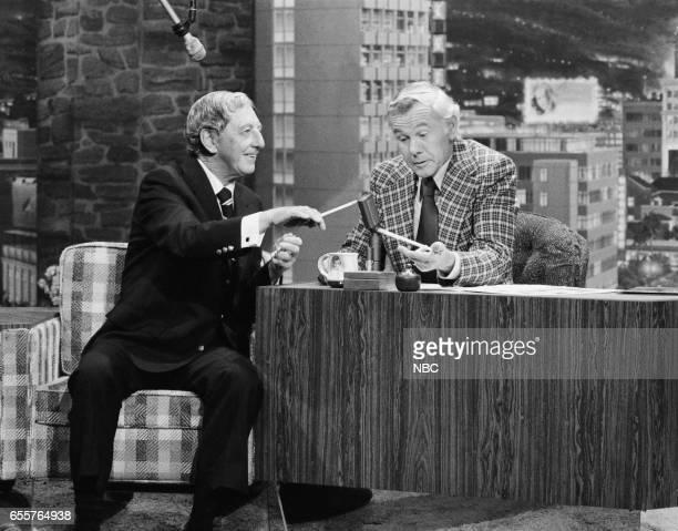 Actor/singer/dancer Ray Bolger host Johnny Carson on March 5 1976