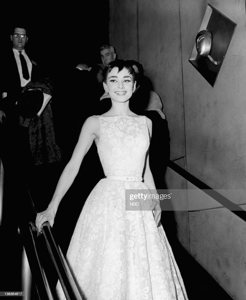 Actress Audrey Hepburn wearing a Givenchy gown at the 26th Annual Academy Awards at the NBC Century Theatre in New York City on March 25 1954