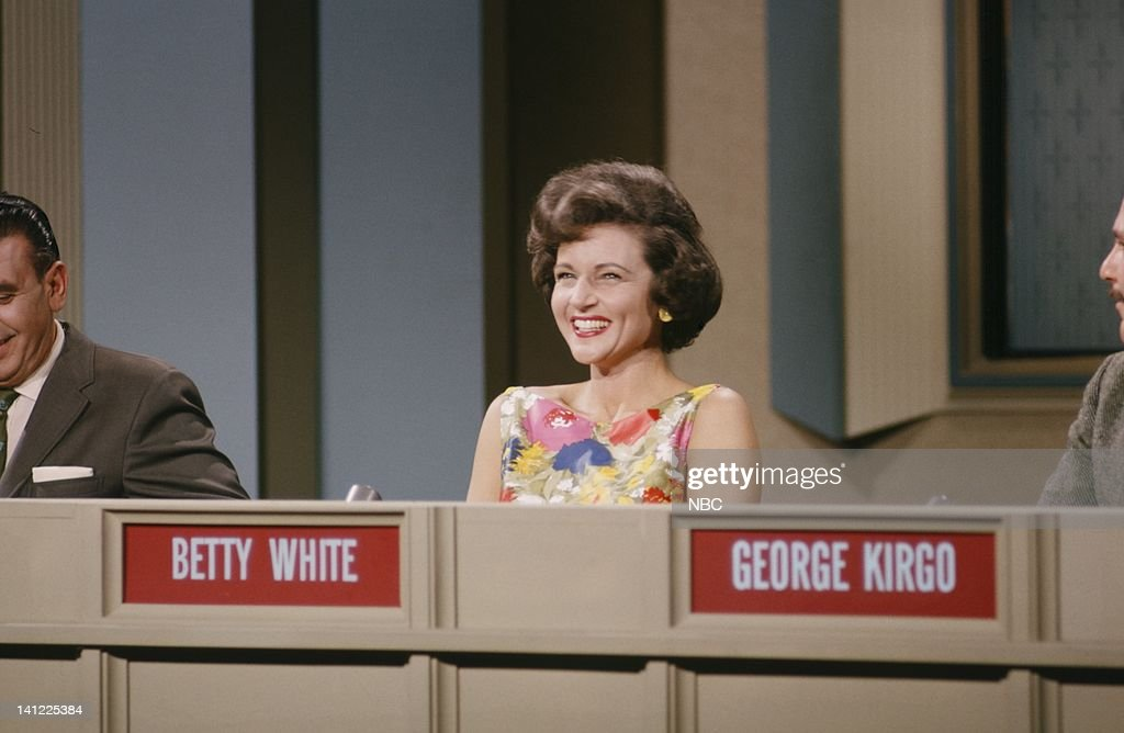Actress <a gi-track='captionPersonalityLinkClicked' href=/galleries/search?phrase=Betty+White&family=editorial&specificpeople=213602 ng-click='$event.stopPropagation()'>Betty White</a> as a celebrity contestant on a gaem show in April 1963 -- Photo by: NBC/NBCU Photo Bank