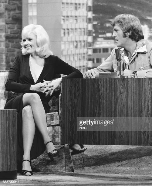 Actress Carey Van Dyke during an interview with guest Host Don Meredith on May 7th 1975