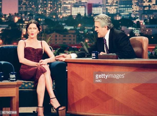 Actress Catherine Zeta Jones during an interview with host Jay Leno on April 29 1999