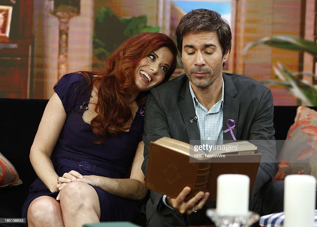 Actress Debra Messing, actor Eric McCormack appear on NBC News' 'Today' show on October 17, 2013 --