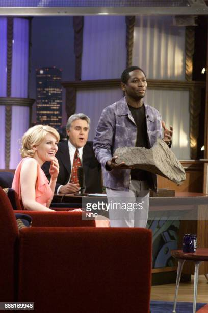 Actress Kirsten Dunst and Actor Guy Torryduring an interview with Host Jay Leno on June 6th 2001