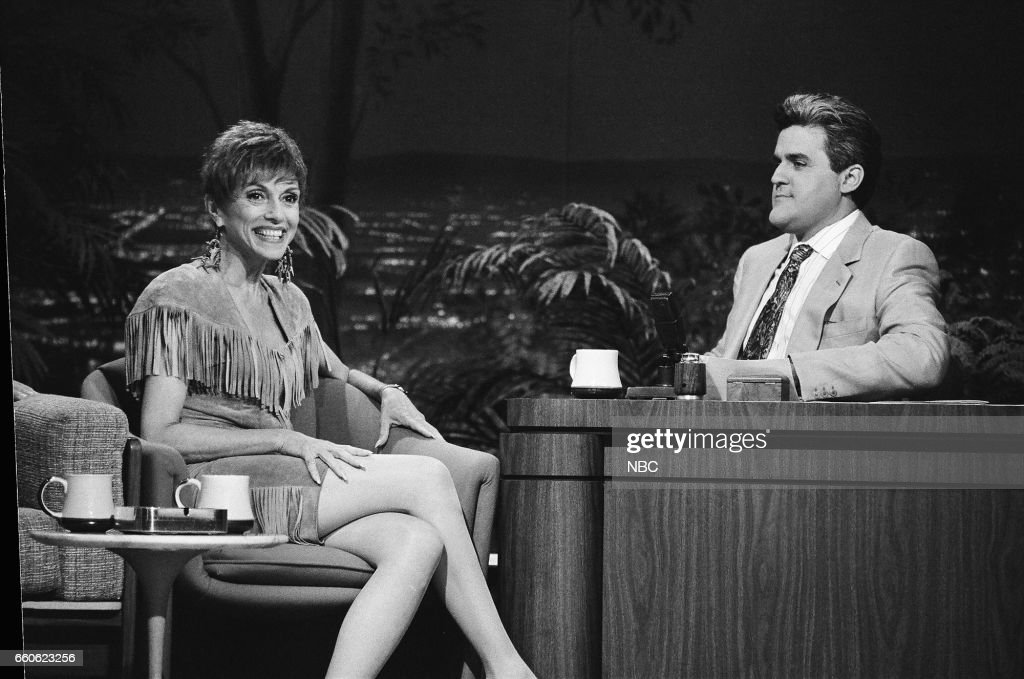 Actress Liliane Montevecchi during an interview with guest host Jay Leno on July 1, 1991 --