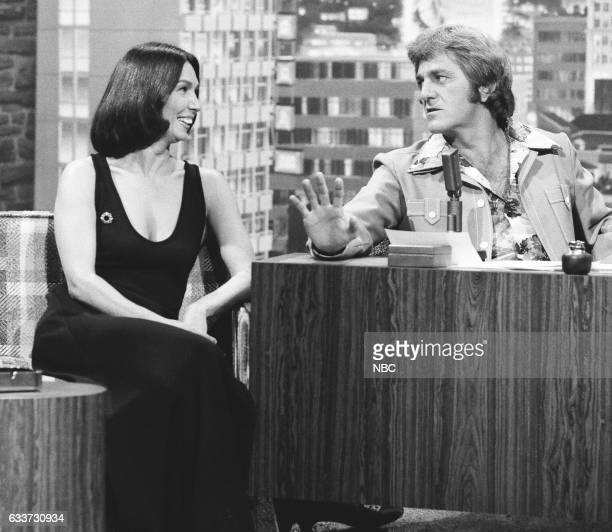 Actress Linda Redfern during an interview with guest Host Don Meredith on May 7th 1975